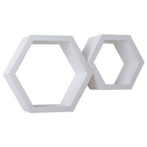 NWT hexagon wall shelves set of 2